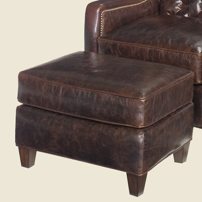 Lexington Gibson Leather Ottoman
