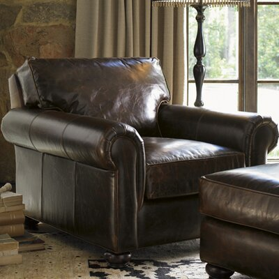 Lexington Images of Courtrai Flanders Leather Chair and Ottoman