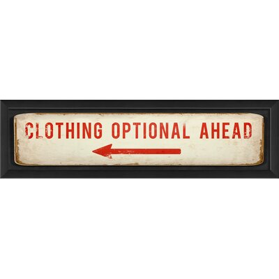 Blueprint Artwork Clothing Optional Ahead Wall Art