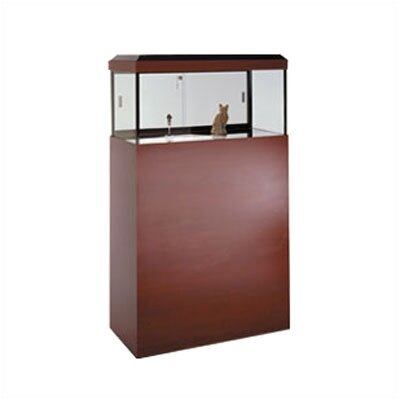 Tecno Display Large Square Pedestal Display Case