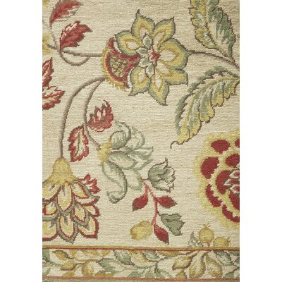 Asmara, Inc. Athene Needlepoint Kirov Gold / Cream Flowers Rug