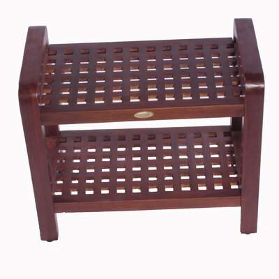 Decoteak Teak Grate Shower Bench
