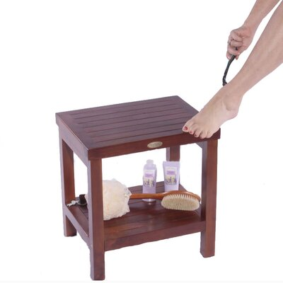 Decoteak Classic Teak Spa Traditional Shower Stool