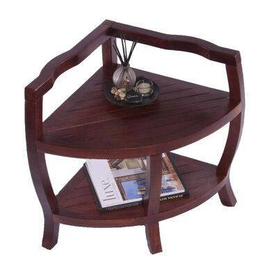 Decoteak Lift Aide Contemporary Teak Spa Corner Shower Stool