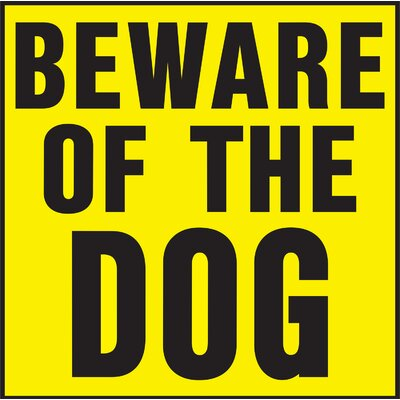 Hy-Ko Beware of Dog Sign