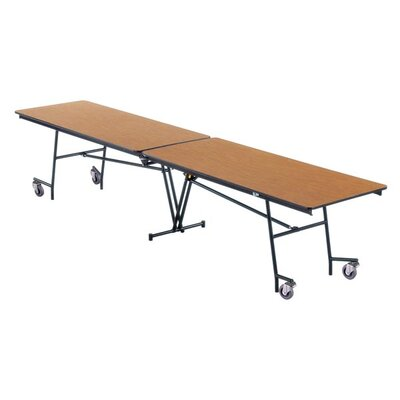 "Midwest Folding Products 27"" x 97"" x 36"" Rectangular Mobile Table Unit"