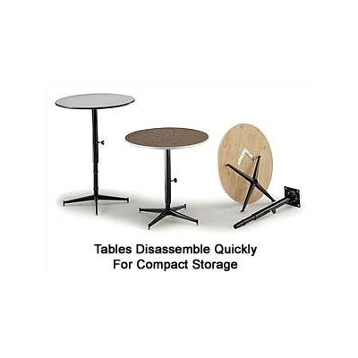Midwest Folding Products Tri-Height Adjustable Cocktail Table with Padded Top