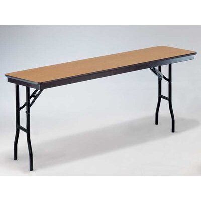 "Midwest Folding Products 18"" x 60"" Plywood Core Seminar Table"