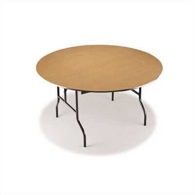 "Midwest Folding Products 60"" Diameter Round Particleboard Core Table"