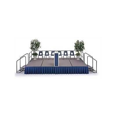 Midwest Folding Products 4' x 6' Portable Dual Height Stage with Carpet Deck