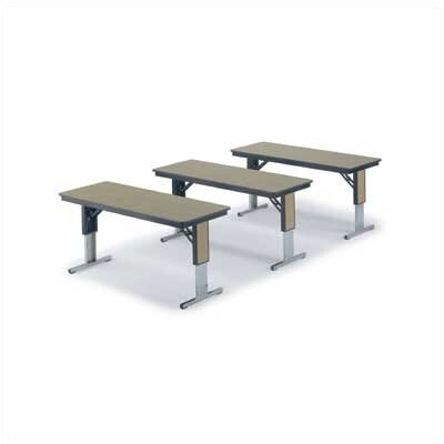 "Midwest Folding Products 136430"" x 60"" TLA Series Adjustable Height Conference Folding Table"