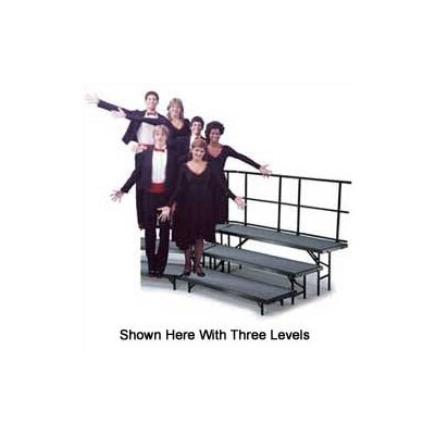 Midwest Folding Products Four-Level Standing Choral Riser with Carpet