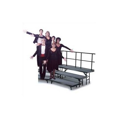 Midwest Folding Products Three-Level Standing Choral Riser with Hardboard Deck