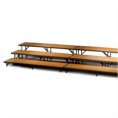 Midwest Folding Products Three-Level Straight Riser with Polypropylene Deck