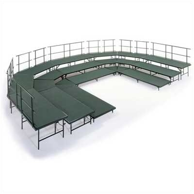 Midwest Folding Products Choral Riser Base Set with Hardboard Deck