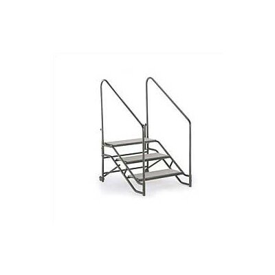 Midwest Folding Products Portable Step Unit (With Hand Rails)