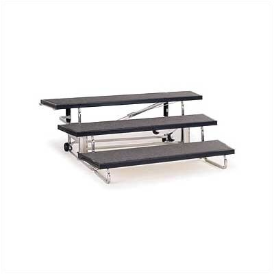 Midwest Folding Products 3-Level 72&quot; Transfold Choral Riser with Optional 4th Step Add-On