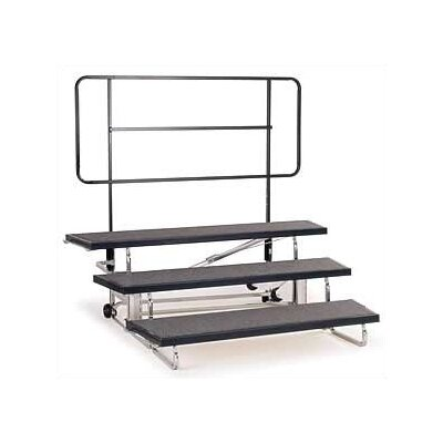 "Midwest Folding Products Backrail for 48"" Transfold Choral Riser"