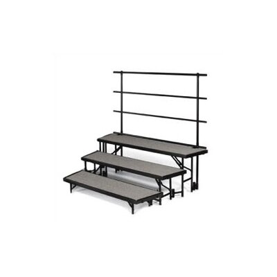 "Midwest Folding Products Backrails for Standing Risers for RTRP7 (76 3/8"" W)"