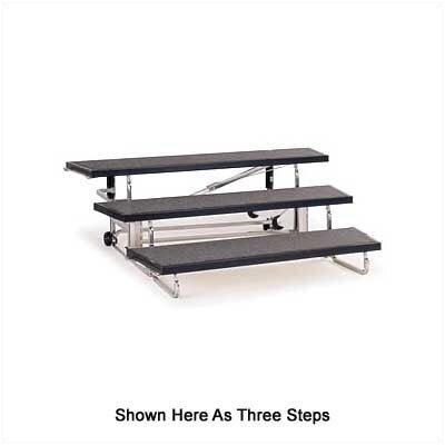 "Midwest Folding Products 3-Level 72"" Transfold Choral Riser with Optional 4th Step Add-On"