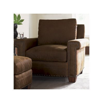 Tommy Bahama Home Road to Canberra Torres Leather Chair and Ottoman