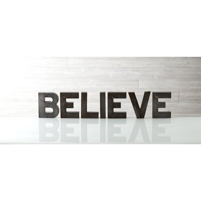 "Shiraleah Holiday Decor ""Believe"" Display Letters"