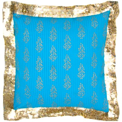 Gold Print Heavy Sequin Flange Pillow