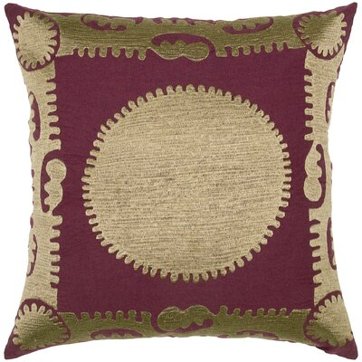 Suzani Sun Motif Embroidery Pillow