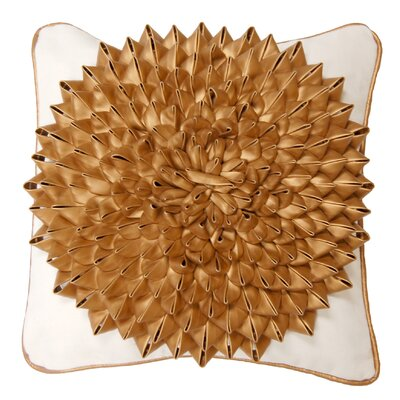 Egyptian Floral Leather Pillow