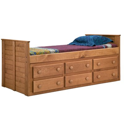 Chelsea Home Twin Captain Bed with 6 Drawers
