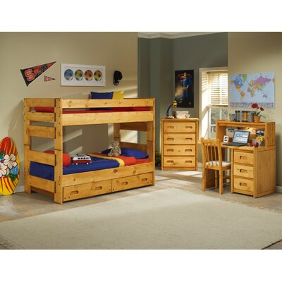 Twin Over Twin Standard Bunk Bed with Trundle