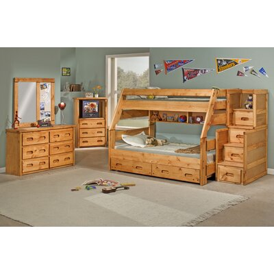 Chelsea Home Twin Over Full Standard Bunk Bed Customizable
