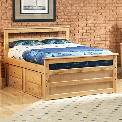Chelsea Home Full Slat Bed with Storage