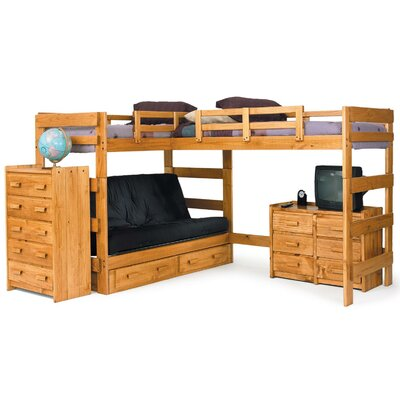 Futon Loft Bed with Underbed Storage