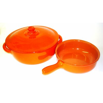 Italian Terracotta 4 1/2-qt. Dutch Oven and 1 1/2-qt. Multi-Use Pan