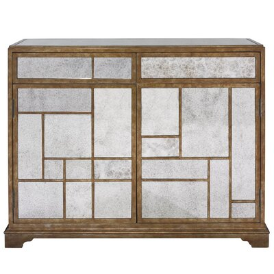 HGTV Home Antique Mirror Door Chest
