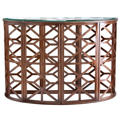HGTV Home Modern Heritage Demilune Console Table