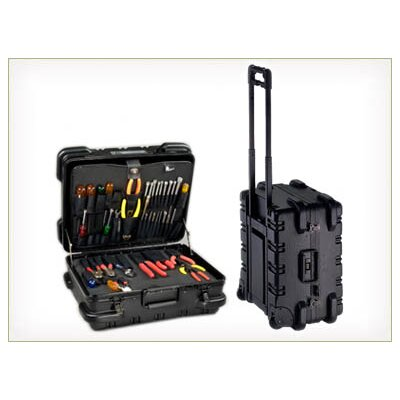 Military Ready Style Wheeled Tool Case with Cart: 18
