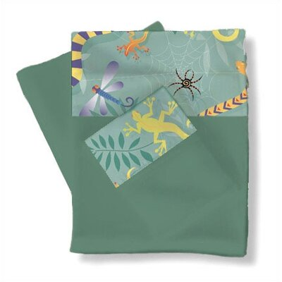 Room Magic Little Lizards Twin Sheets / Pillowcase Set
