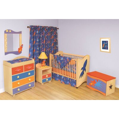 Room Magic Star Rocket 2-in-1 Convertible Crib Set
