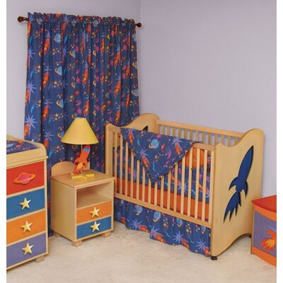 Room Magic Star Rocket 5 Piece Crib Set