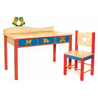 "Room Magic Cowboy 24"" W Writing Desk and Chair Set"