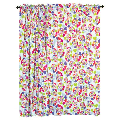 Room Magic Heart Throb Cotton Rod Pocket Curtain Panel