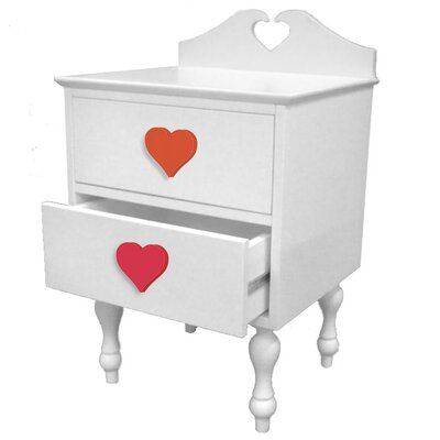 Room Magic Heart Throb 1 Drawer Nightstand