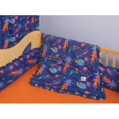 Room Magic Star Rocket 4 Piece Crib Bedding Set