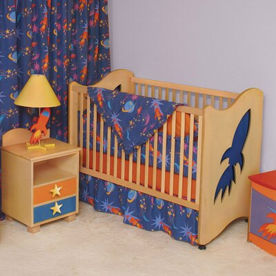 Star Rocket 2-in-1 Convertible Crib