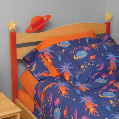 Room Magic Star Rocket Twin Panel Headboard