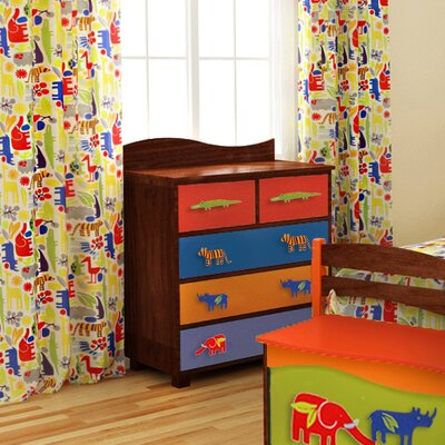 Room Magic Zoo 4 U Cotton Rod Pocket Curtain Panel