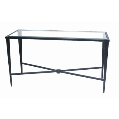 Allan Copley Designs Belmont Glass Top Console Table