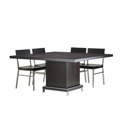 "Allan Copley Designs Force 5 Piece 60"" Square Wood Top Dining Set"